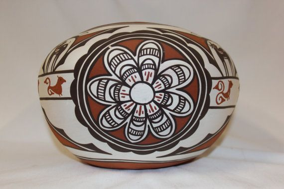 Zuni : Native American Zuni Pottery Bowl by Claudine Haloo