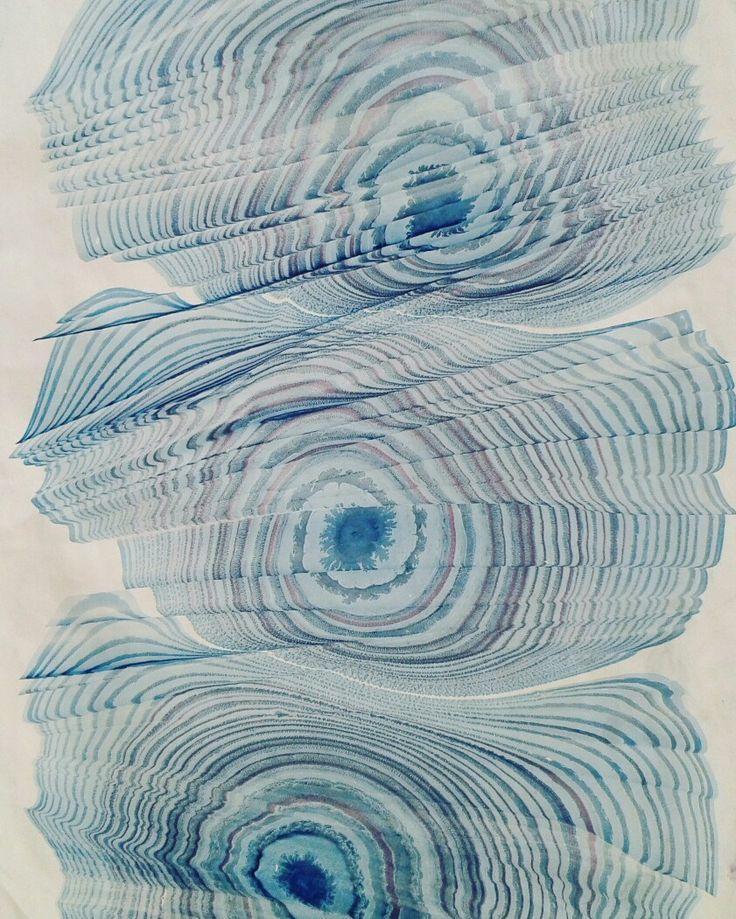 ebru sanatı ( marbling art ) by mai hatti