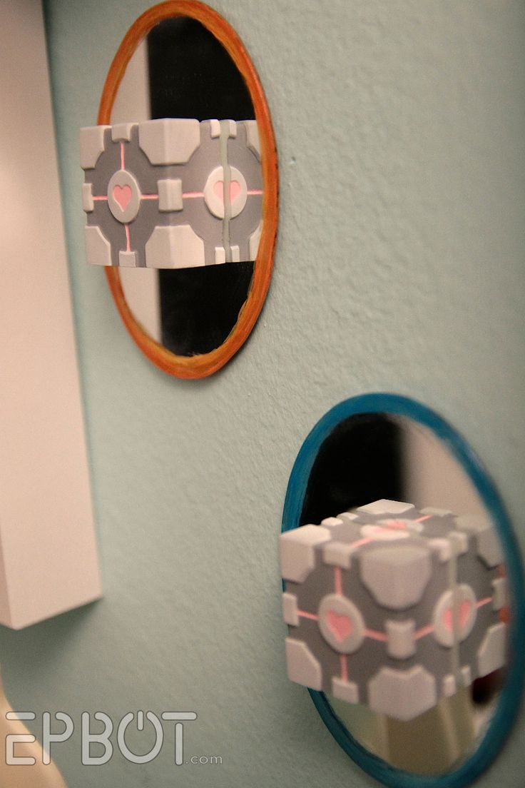Mini Wall Portals & Companion Cubes. Nice, detailed tutorial that can be adapted to a lot of different crafts.