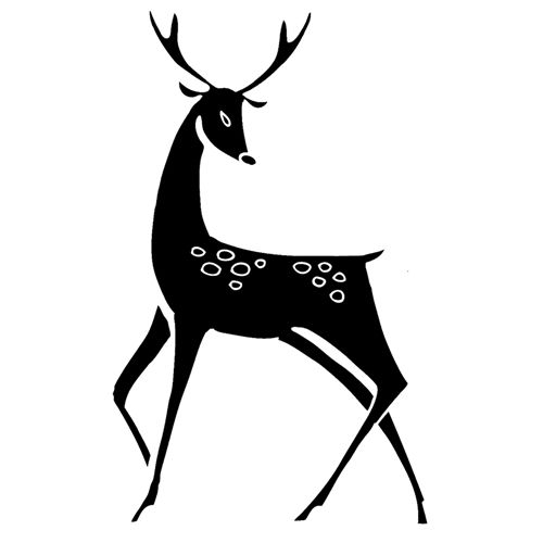 Tim Holtz Rubber Stamp STYLED REINDEER Stampers Anonymous M1-2458