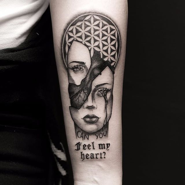 Bring Me The Horizon Blackwork Tattoo By Nickolaww Bmth Tattoo Tattoos Blackwork Tattoo