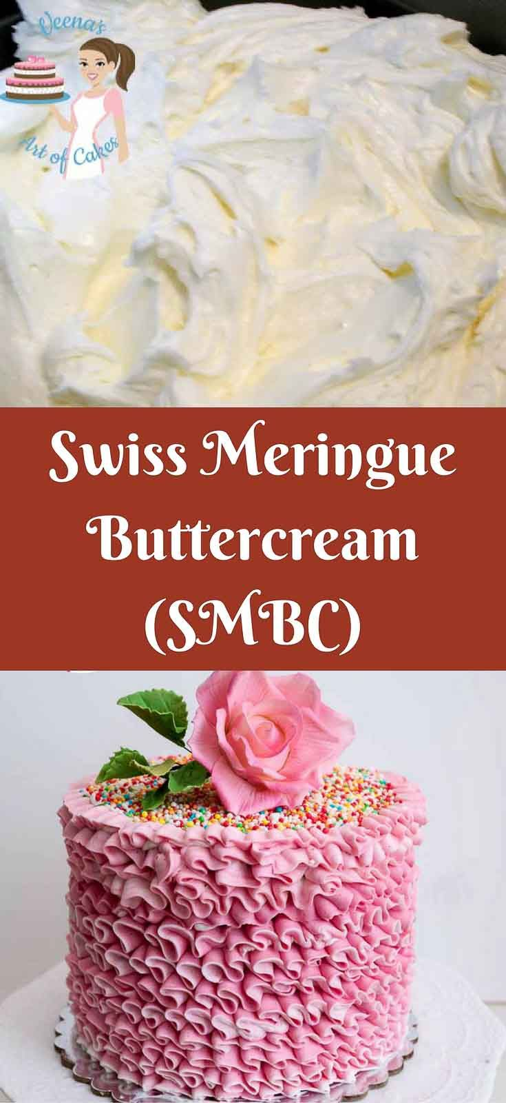 Swiss Meringue Buttercream (SMBC) is made with egg white ...