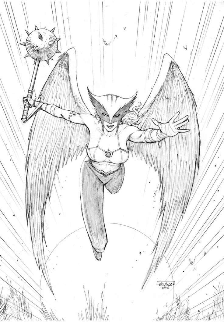 Hawkgirl Commission by FlowComa on DeviantArt | DC Hawkgirl and ...