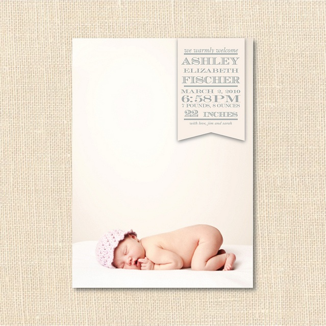 Banner Birth Announcement by blush printables, via Flickr