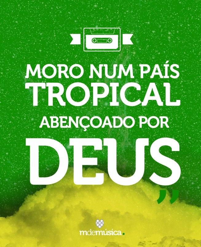 """♪ ♫ ♩ ♬ O MdeMúsica de hoje toca """"País Tropical"""" de Jorge Ben Jor http://abr.io/3cqr"""