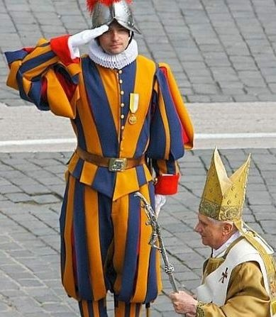 Love the Swiss guards