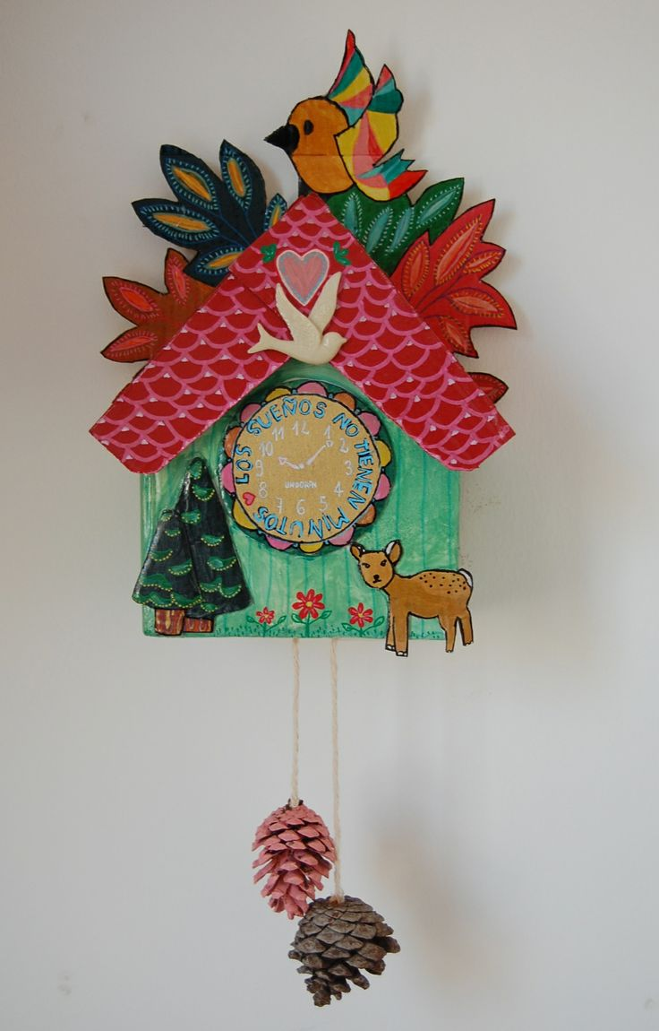 Cuckoo Clock Made With Cardboard Custom Diy Pinterest