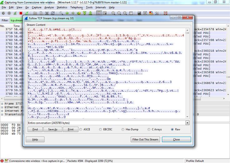 Wireshark Monitoraggio Rete Sniffare pacchetti dati
