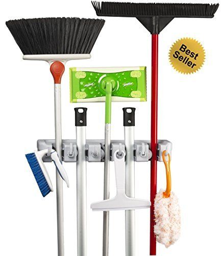 Best Broom Holder BBH5 Mop and Broom Hanger, http://www.amazon.com/dp/B00KRC4ZF2/ref=cm_sw_r_pi_awdm_0NGlwb17FM0GR
