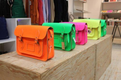 teacher style neon bags: Fashion Merchandi, Shoulder Bags, Neon Bags, Cambridge Satchel, Neon Fashion, Fashionmerchandi, Neon Colors, Satchel Bags, Bright Colors