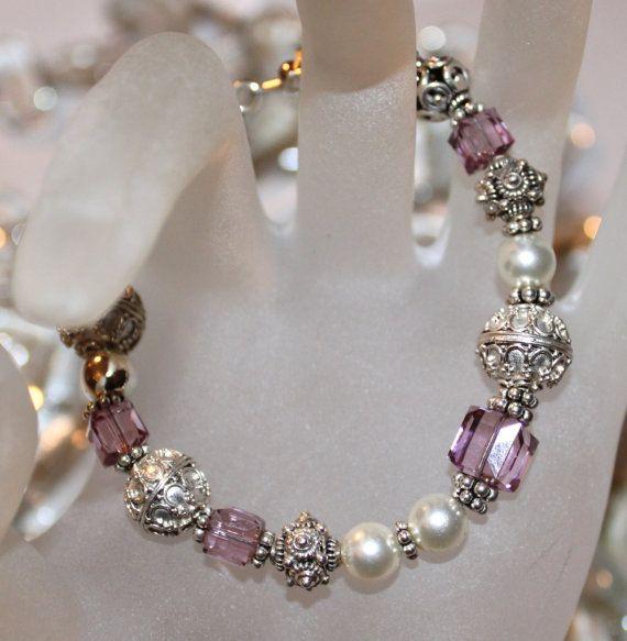 TAKE 20 OFF Pretty In Pink Swarovski Bracelet by celesteschall