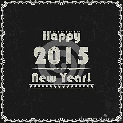 Vintage New Year abstract background
