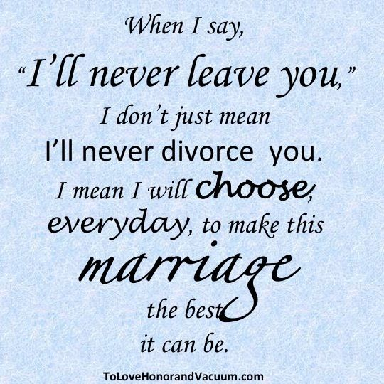 marriage! It is what you make it.