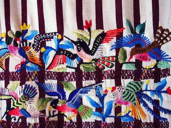 Fig. 11. Detail, Mayan 'trajes'. Santiago Atitlan, Guatemala (1988).