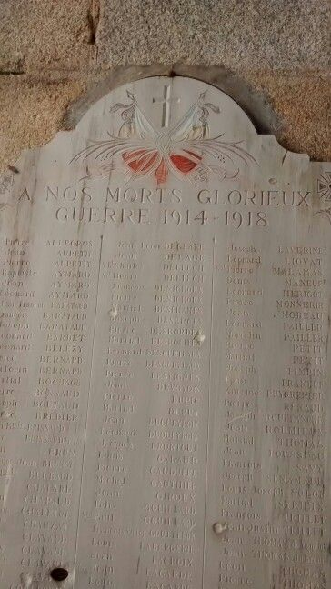 WW1 Memorial in the church...bullet marks tell a new story.
