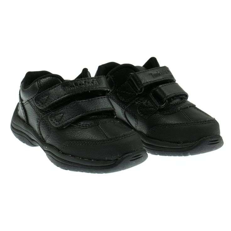 Boys Simple Black Sneakers with Velcro Fastenings. Now available at www.chocolateclothing.co.uk