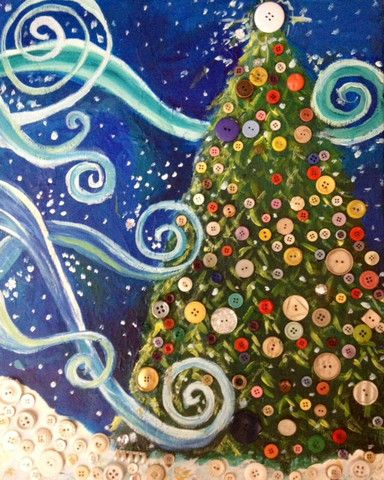 Mixed+Media+Christmas+Tree | Mixed Media Christmas Tree | Adult Art Classes | Kids Art Classes in ...