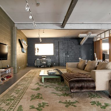 Cinder Block Walls Living Room Design Ideas, Pictures, Remodel And