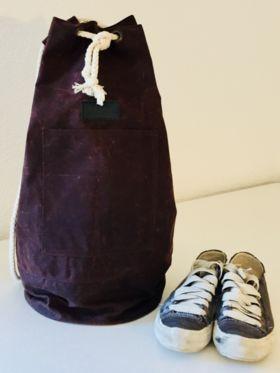 c291591638e5d Seesack Dufflebag Adam Bonny aubergine canvas gewachst