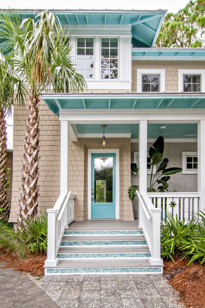 Sand and Aqua color scheme. PERFECT for a Coastal/Beach house I love it