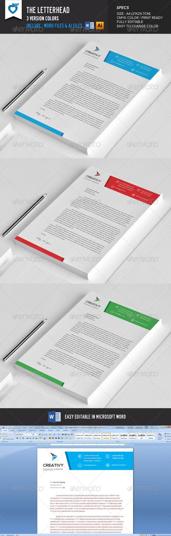 The #Letterhead - #Stationery Print Templates Download here: https://graphicriver.net/item/the-letterhead/8621502?ref=artgallery8