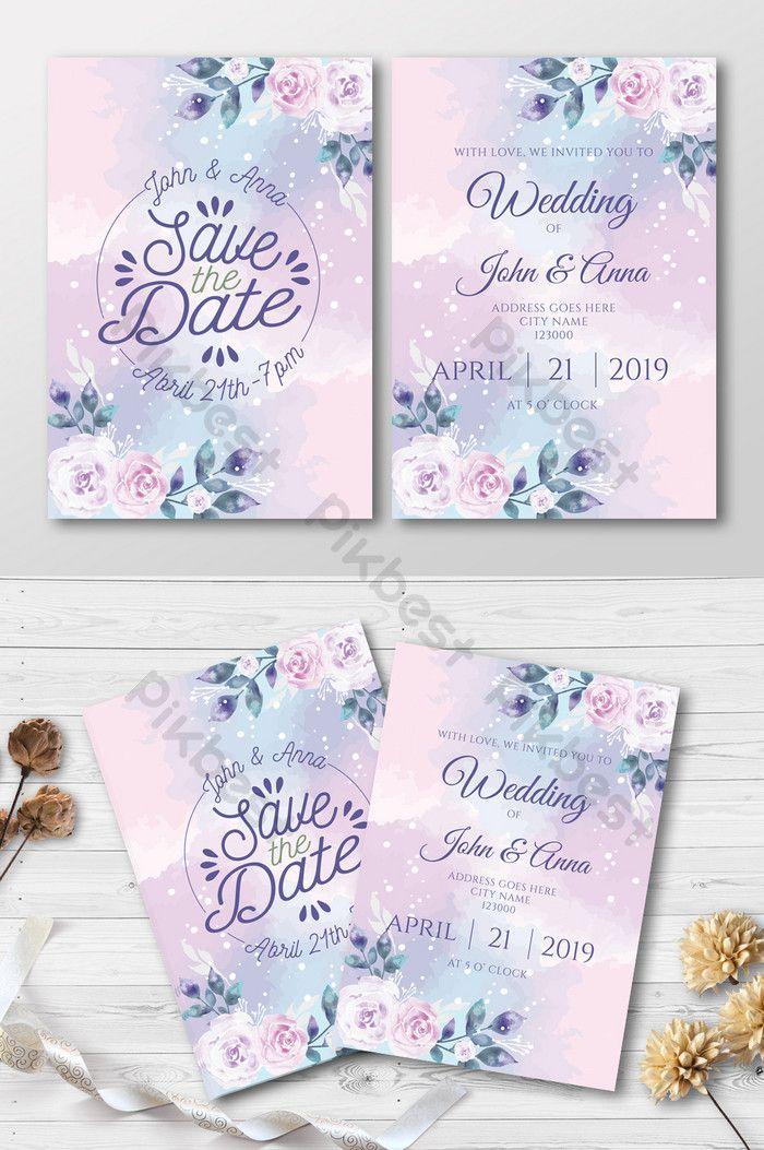 Lovely Watercolor Wedding Invitation Ai Free Download Pikbest Wedding Invitation Card Design Watercolor Wedding Invitations Modern Calligraphy Wedding Invitation