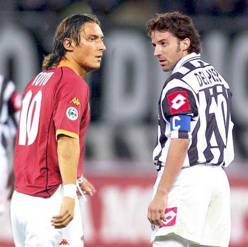 Francesco Totti & Alessandro Del Piero AS Roma vs Juventus