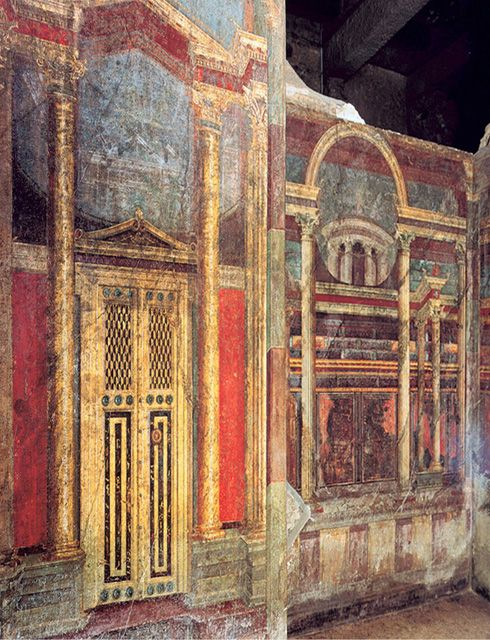 #Pompeii  --  Roman Fresco of Bedroom 16  --  Excavated from the 'Villa of the Mysteries' at Pompeii
