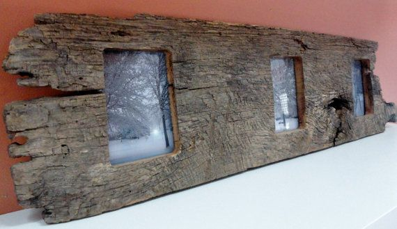 35 x 9 x 2.5  Barn Wood Knotty Picture Frame