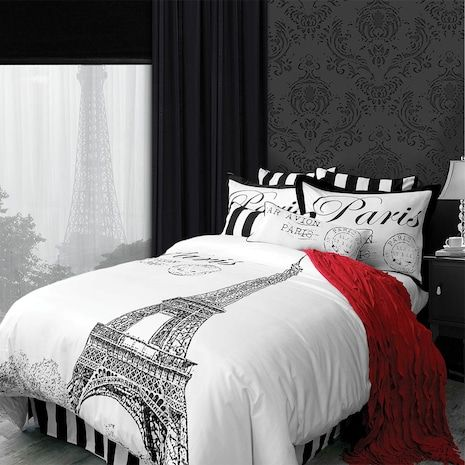 literie collection j 39 adore motifs coussins et oreillers d coratifs decor sweet home. Black Bedroom Furniture Sets. Home Design Ideas