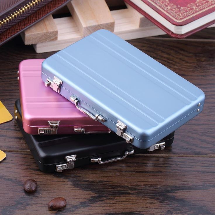 Mini Briefcase Business Card Case ID Holders Password Aluminium Credit Card Holder