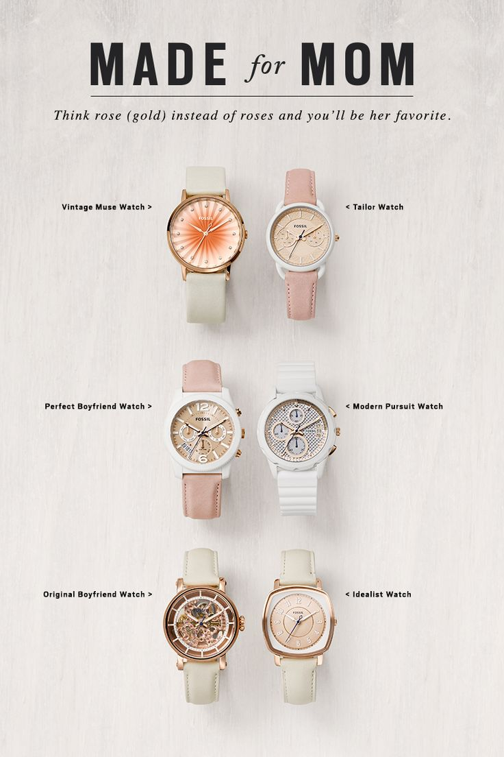 Think rose (gold) watches instead of roses and you'll be Mom's favorite this Mother's Day.