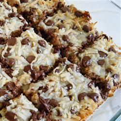 Magic Cookie Bars from Eagle Brand.. These don't only look good, but taste amazing too!(: