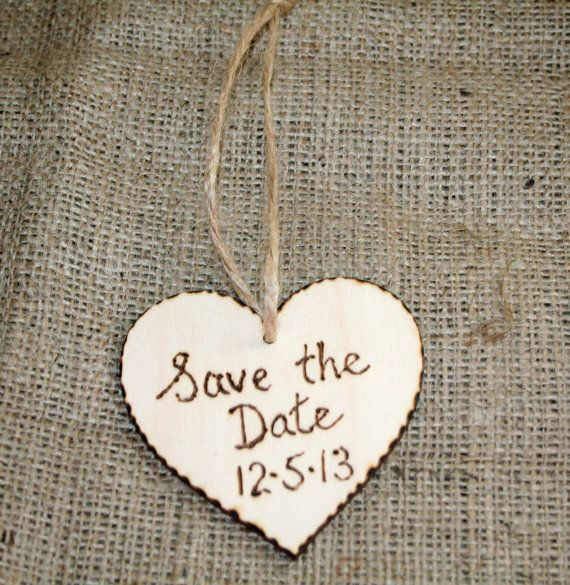 Save the Date Rustic Wedding Favour Sign