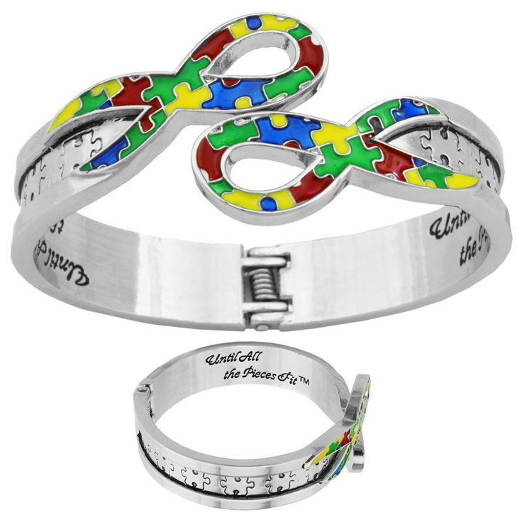 Autism Awareness Ribbon Bracelet. Every Purchase Funds Research and Therapy to Help Children with Autism.