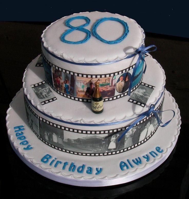 Best 25+ 80th Birthday Cakes Ideas On Pinterest