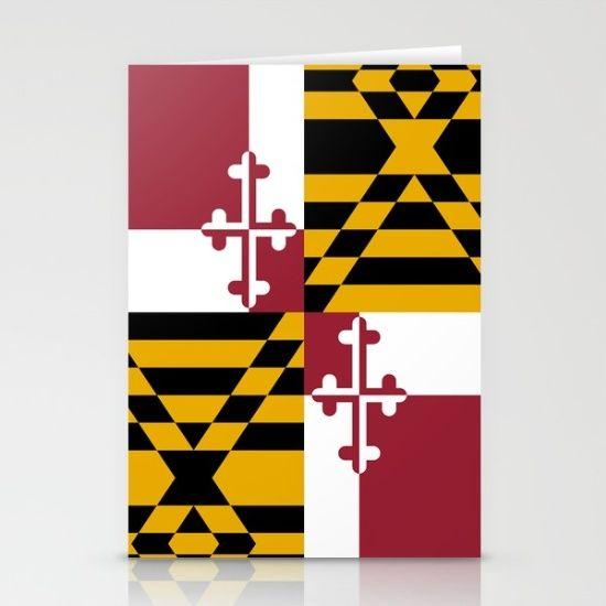 Flag of Maryland - Authentic High Quality image Stationery Card #Maryland #state #flag #stateflags #marylandflag #annapolis