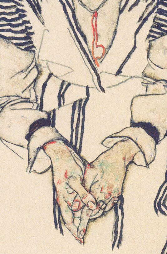 detailsofpaintings:  Egon Schiele, Bildnis der Schwägerin des Künstlers, Adele Hams (detail)1917