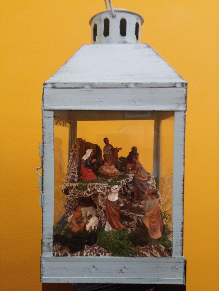 Belen en Farol 5 - Con luz led y figuras de 4 cm. Colección 2015