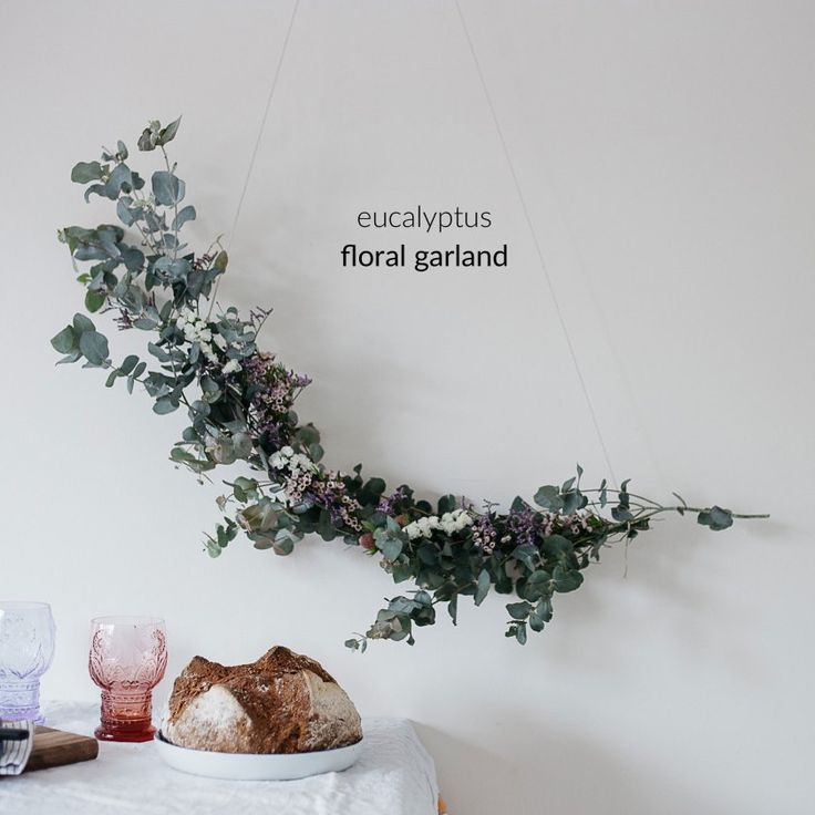 diy eucalyptus floral garland (+ video tutorial!)