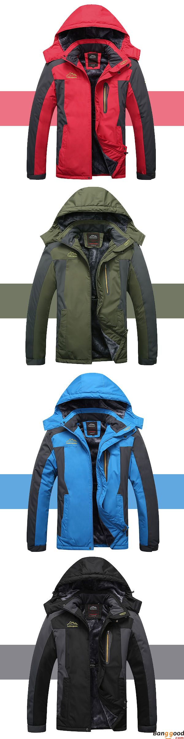 Epic Low Price + Free Shipping. Mens Outdoor Waterproof Windproof Fleece Plus Thick Warm Mountaineering Jackets Big Size S-7XL. Free Warm While Exploring the Nature. >>> To view further, visit now.