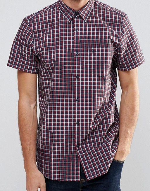 Jack Wills | Jack Wills Shirt In Regular Fit In Short Sleeves Check