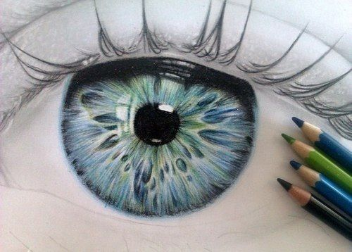 Beautiful Color Pencil Drawing Of An Eye Art Pinterest