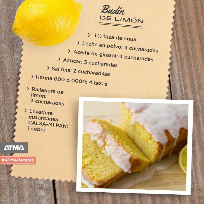 El budín de limón, un clásico en la merienda de tus hijos. Hacelo con el horno de pan ATMA: http://bit.ly/1dhiS5o #ATMARecetas