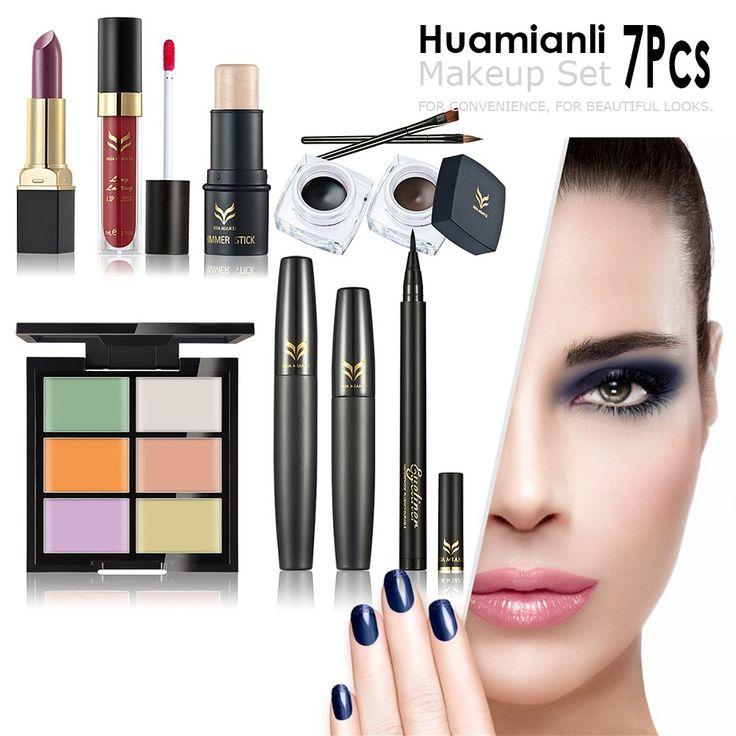 Huamianli Brand 7Pcs Makeup Set Highlighter Shimmer Stick Sale Online Shopping - Tomtop.com