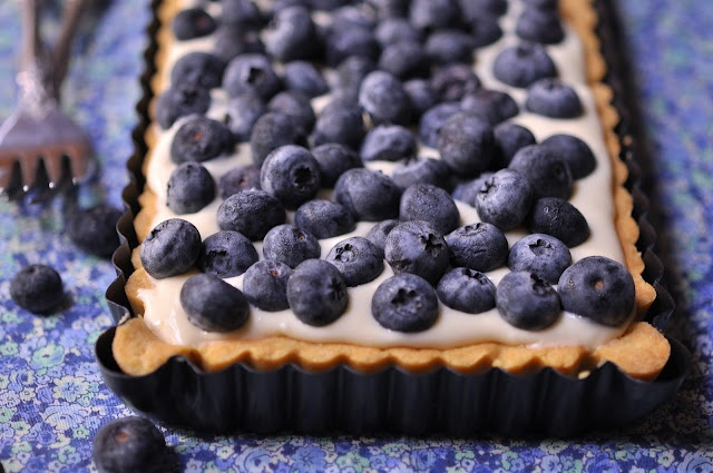 The Kitchen Guardian: Blueberry Lemon Cheese Tart