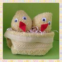 (Paas)kuikentjes in een nestje ~ www.knutselboom.nl