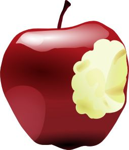 Apple Bitten clip art - vector clip art online, royalty free & public domain