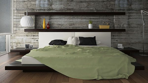 35 Cool Headboard Ideas To Improve Your Bedroom Design -- Wood on entire wall.. like!