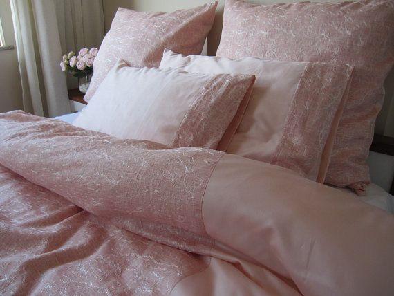 Verkauf blass rosa Bettwäsche Double Größe voll von nurdanceyiz